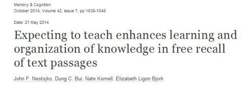 Teaching to Learn
