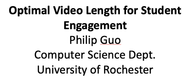 Optimal Video Length